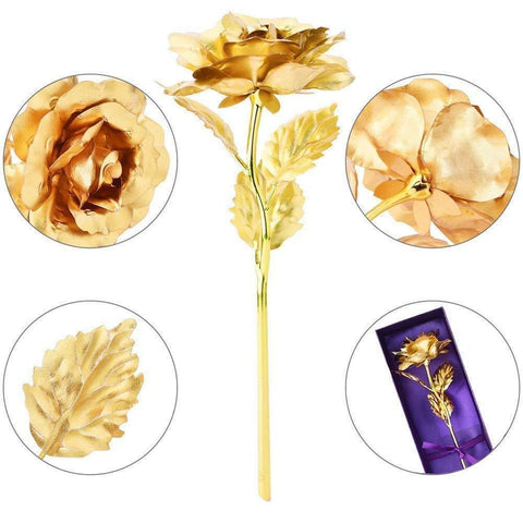 Image of 24K Gold Rose Gift Box