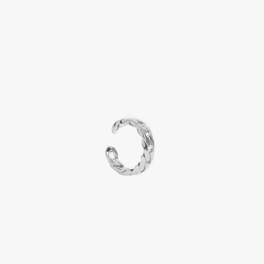 Sequence ring narrow silver