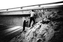 Black Flag, Spray Paint the Overpass, I-5, En Route to a Show in San Francisco, 1979