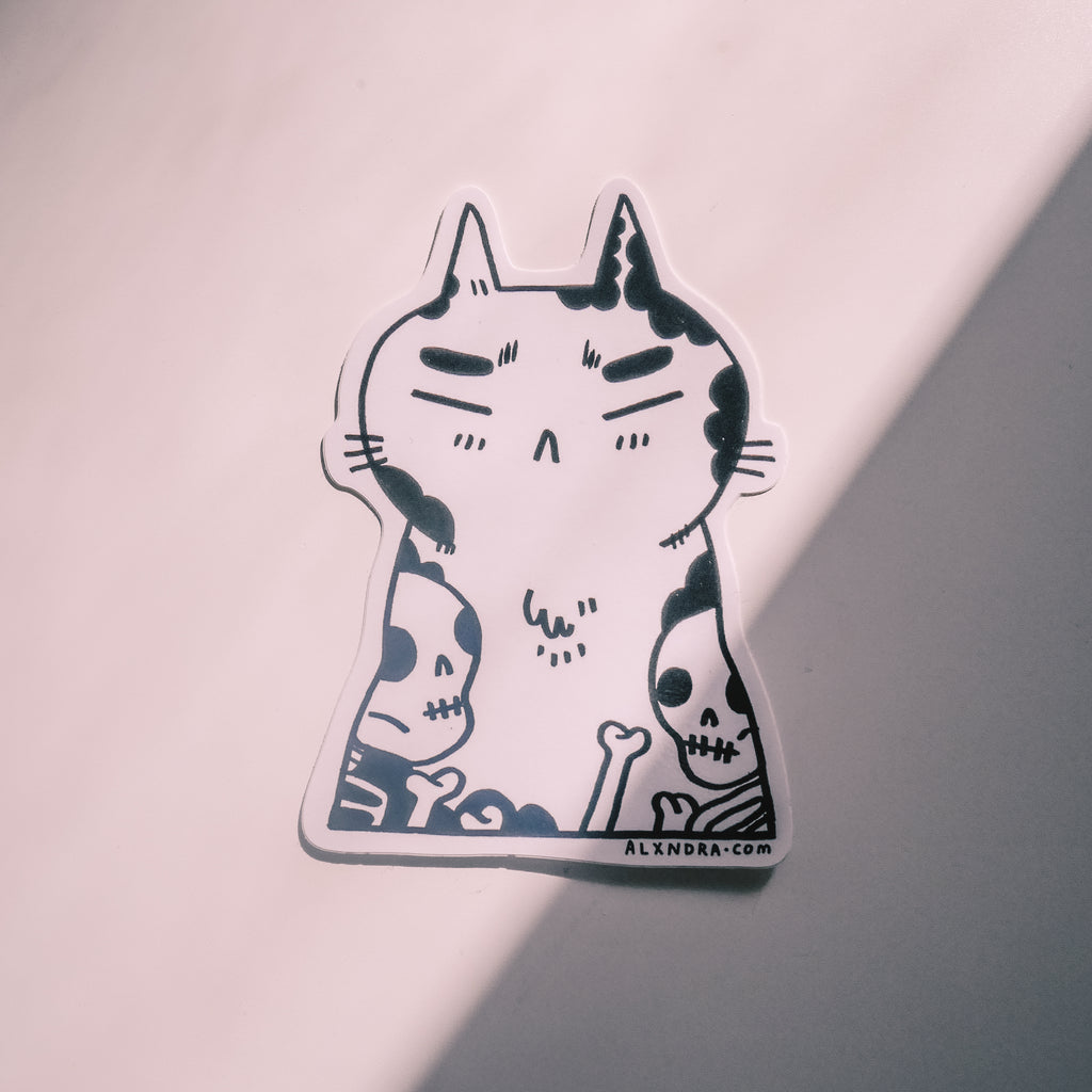 Tattoo Cat Sticker