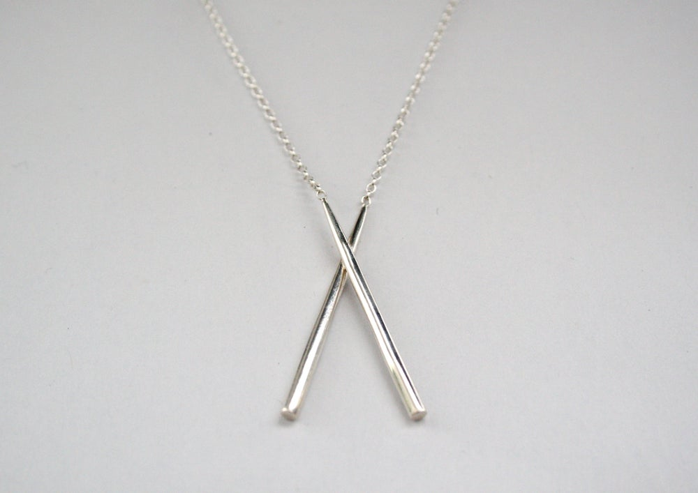 Silver Chopstick Necklace
