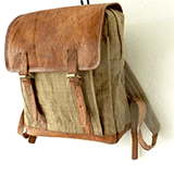 nettle and vegetable tanned leather backpack from KOLPA