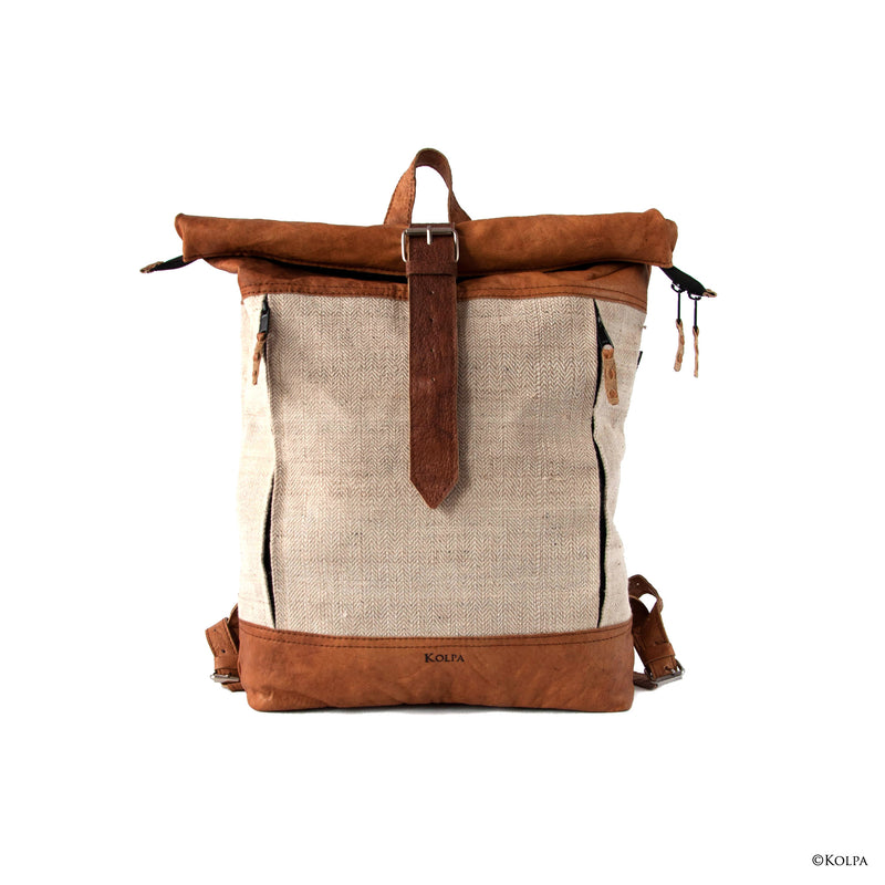 KOLPA Rolltop Rucksack - Nettle/Cotton - kolpaworld.com