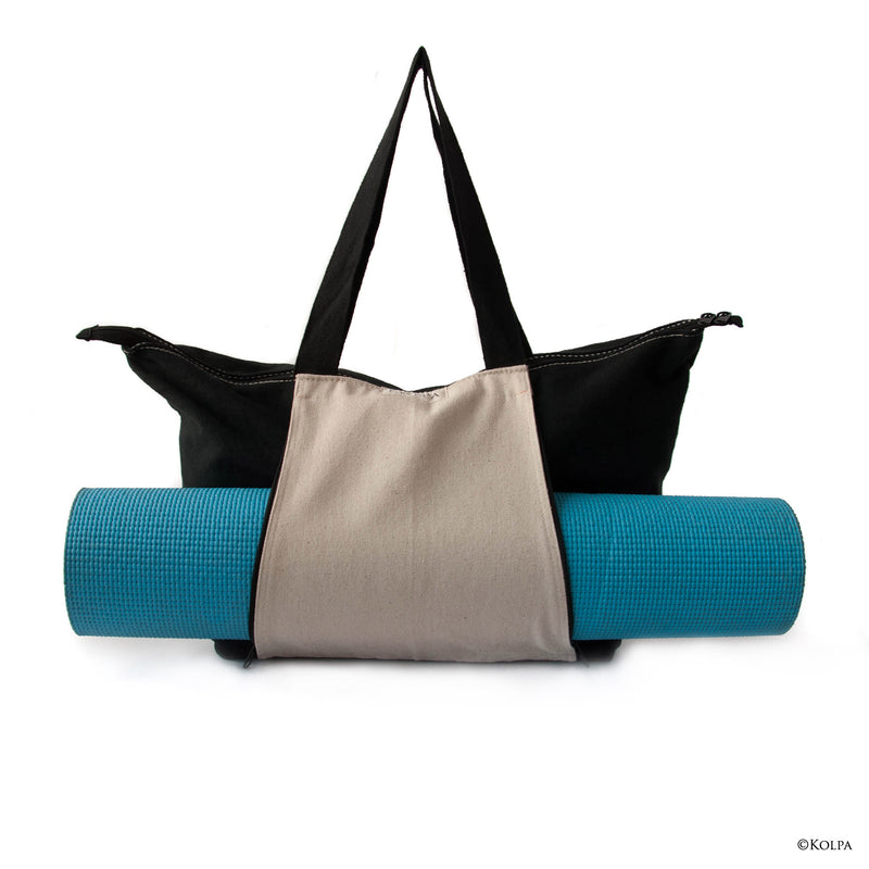 """YOGI"" Canvas Tote / Weekender Bag - kolpaworld.com"