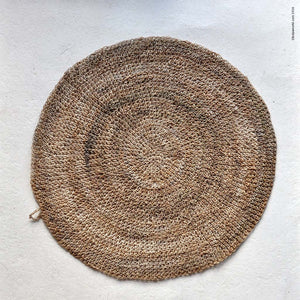 "Round Hemp Table Placemat - Natural  - 14"" - kolpaworld.com - 1"
