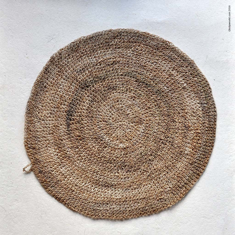 Round Hemp Table Placemat - Natural  - 14