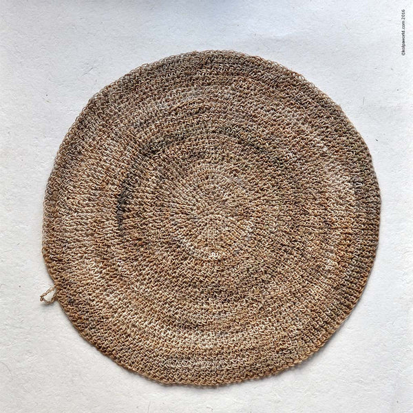 Round Hemp Table Placemat 14 Quot Set Of 6 Kolpaworld Com