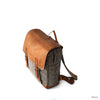 """ARJU-2"" Linen and Vegetal Leather Backpack - kolpaworld.com"