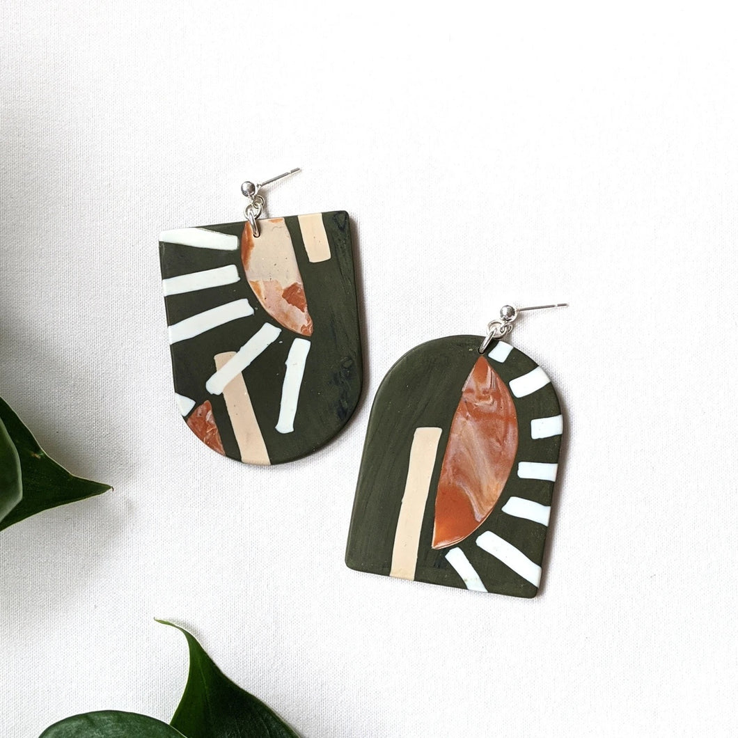 Ray Earth Clay Earrings