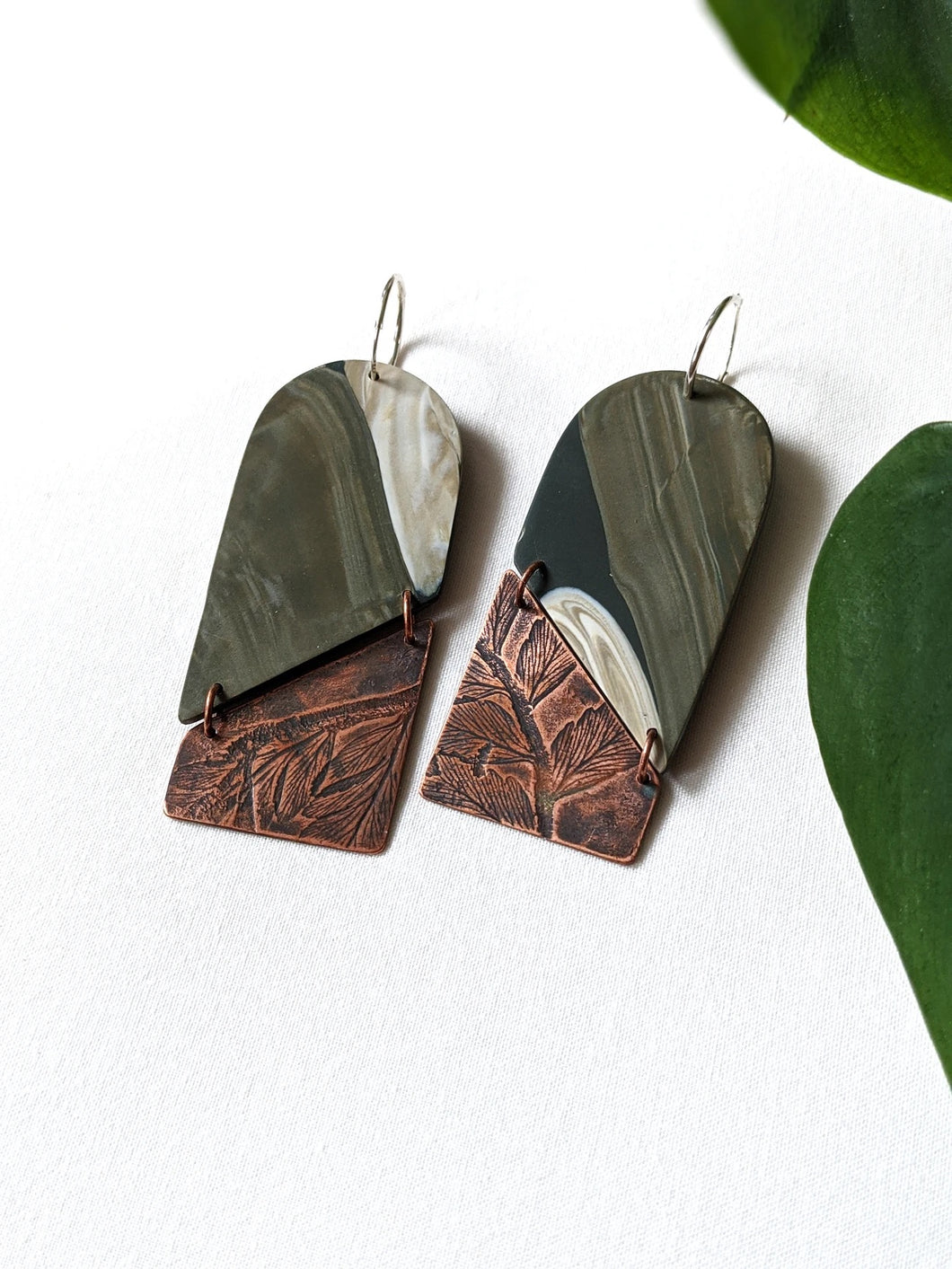 Helena Maxi Clay Earrings