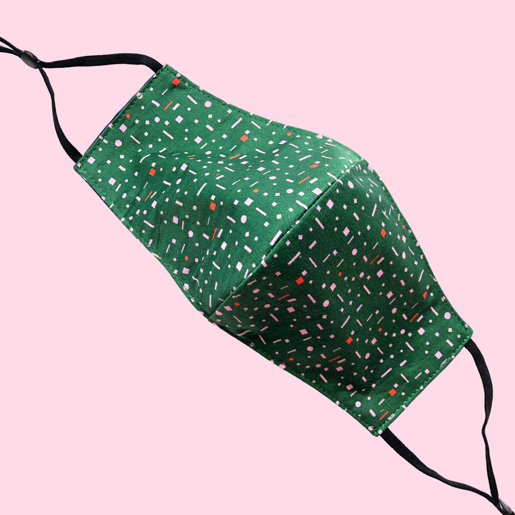 Ariel Green Cotton Reusable Face Covering