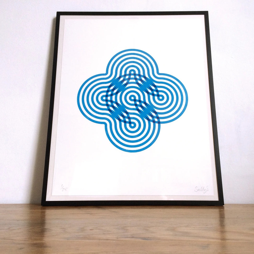 Stripy Flower Limited Edition Print (Unframed)