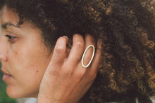 Load image into Gallery viewer, Oval Brass Statement Ring
