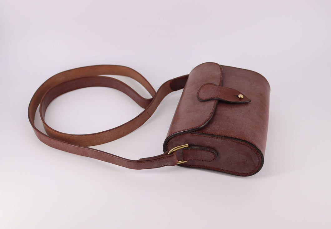 Hand Stitched Leather Crossbody Bag (Made to Order)