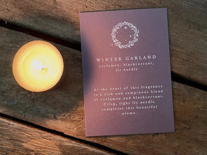 Winter Garland Candle