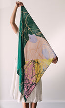 Load image into Gallery viewer, Wren Multi-coloured Large Silk Scarf