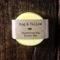 Peppermint Pig Tallow Shower & Shampoo Bar