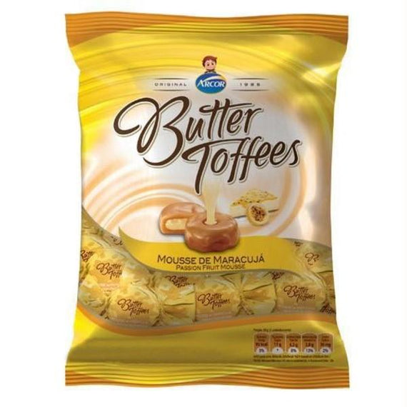 Butter Toffees sabor Mousse Maracujá - Arcor (Arcor - Butter Toffe Passionfruit Candy)