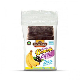 Barrinha de Banana com Açaí Sem Açúcar - Da Colonia (Banana bar with Acai) - No Sugar