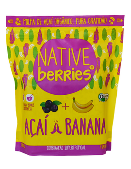 Polpa de Açaí com Banana Native - (Native Acai Pulp with Banana)