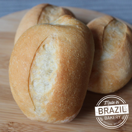 Pão Francês Congelado - Made in Brazil Bakery (Brazilian Roll)