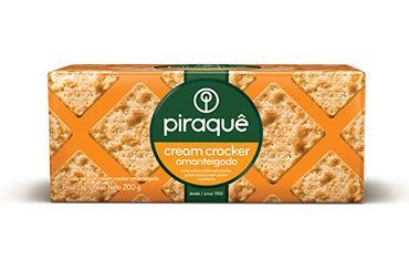 Biscoito Cream Cracker Amanteigado Piraque (Piraque Buttery Cream Cracker Cookie)