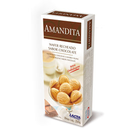 Amandita Wafer Recheado Sabor Chocolate (Lacta) - (Wafer With Chocolate (Lacta))