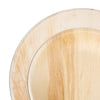 Round Palm Leaf Eco Friendly Disposable Dinnerware Value Set