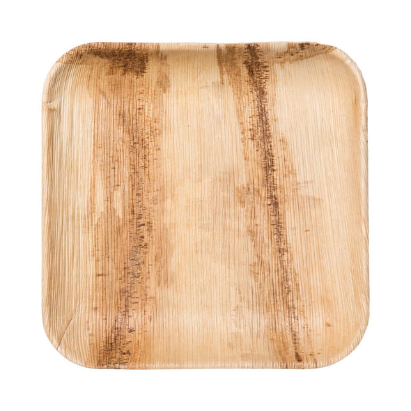 "11"" Square Palm Leaf Eco Friendly Disposable Dinner Plates"