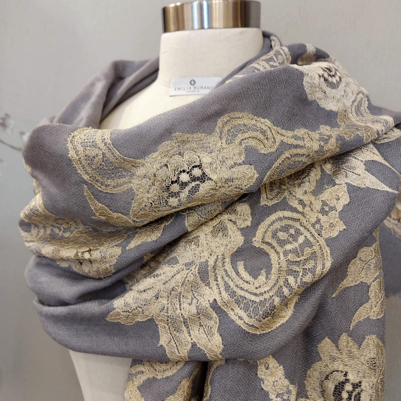 """IMPERIALE"" Wool & Silk scarf"