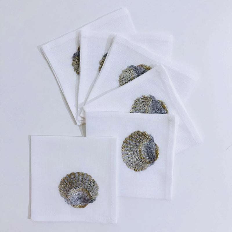 The Clams Cocktail napkins (set of 6)