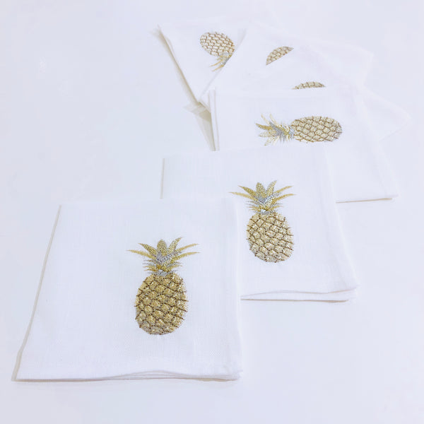 The Pineapple Cocktail napkins (set of 6)