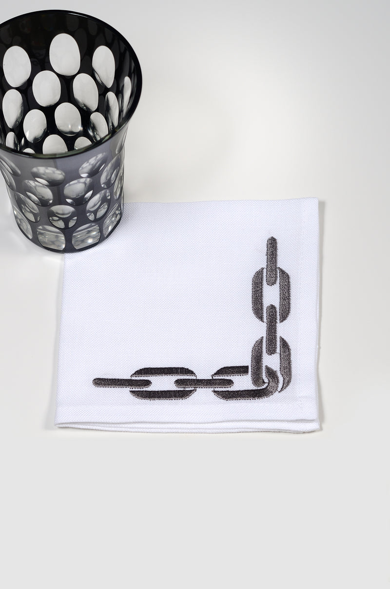 The Grey Chain Cocktail napkins (set of 6)