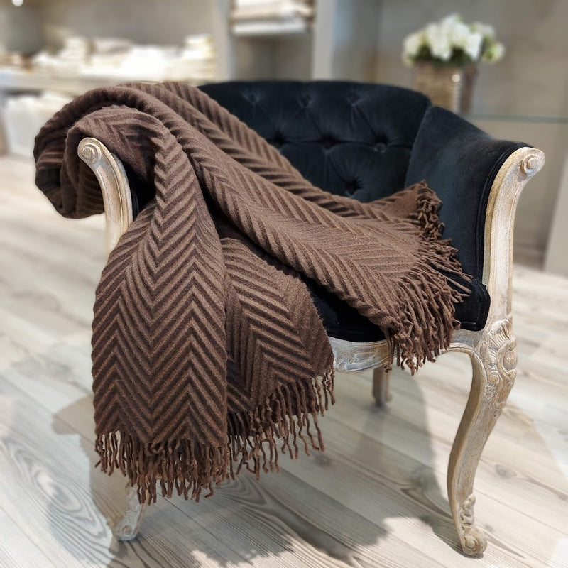 """PLISSET""  Throw-Plaid Cashmere"