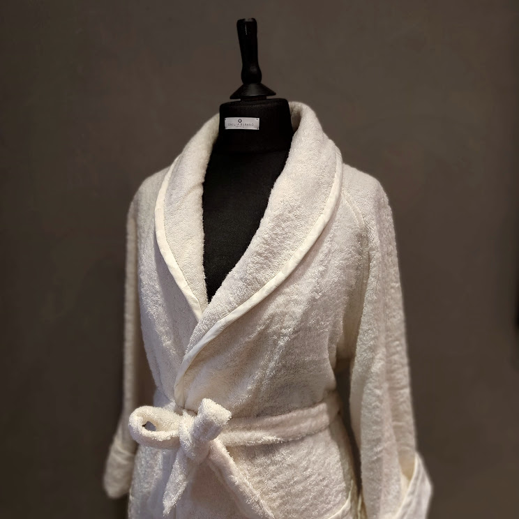"""SATEEN"" WOOD FIBER  BATHROBE"