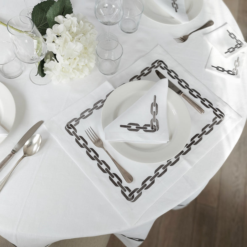 The Grey Chain Tablecloth