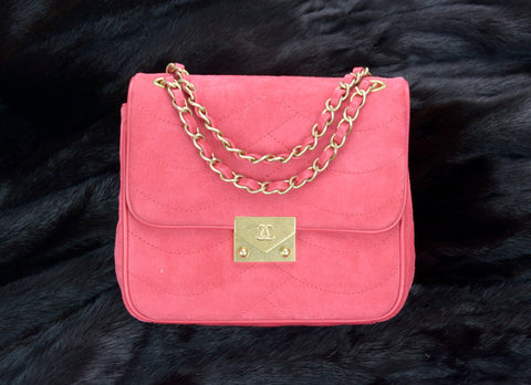 Chanel Suede Runway Mini Flap Bag At Designer Vault