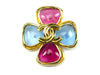 Chanel Gripoix Glass Brooch - Designer Vault - 1