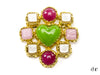 Chanel Vintage Poured Glass Gripoix Heart Pearl Brooch - Designer Vault - 1