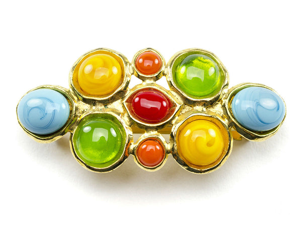 Chanel Vintage Multicolored Gripoix Barrette