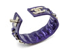 Chanel Purple Leather Bracelet - Designer Vault - 3