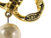 Chanel Vintage Double Link Pearl Drop Earrings - Designer Vault - 4