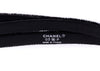 Chanel 03P Black Velvet Double Wrap Button Belt - Designer Vault