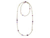 Chanel Purple Glass Necklace - Designer Vault - 2