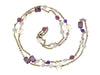 Chanel Purple Glass Necklace - Designer Vault - 3