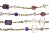 Chanel Purple Glass Necklace - Designer Vault - 4