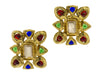 Chanel Vintage Multi-Colored Pearl Gripoix Earrings - Designer Vault - 1