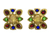 Chanel Vintage Multi-Colored Pearl Gripoix Earrings - Designer Vault - 2