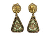 Chanel Vintage Green Triangle Dangling Earrings - Designer Vault - 2