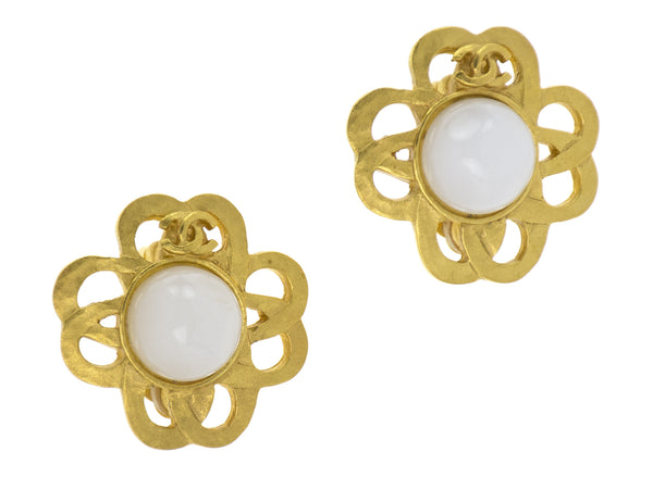Chanel Vintage Gold Earrings